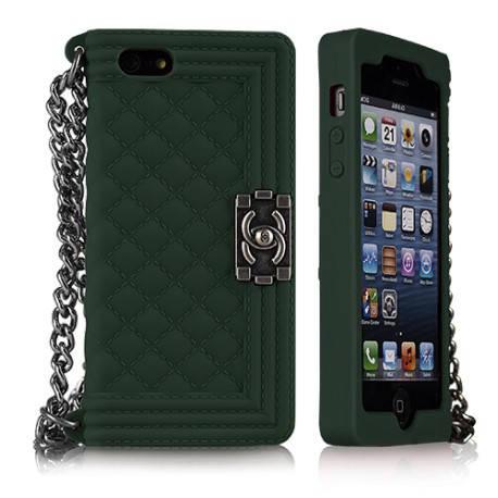 Чехол CHANEL Le Boy для IPhone 5/5S Зеленый