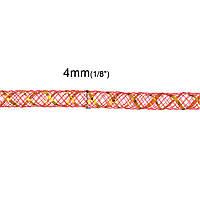 Трубка, Кринолин, Нейлон, Красный 4 мм, для Ожерелья/Браслета