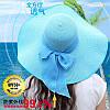Женская пляжная шляпа с бантиком