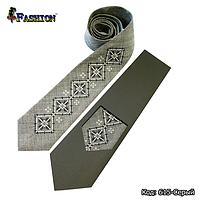 Вышитый серый галстук Лорент