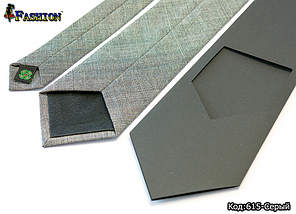 Вышитый серый галстук Лорент, фото 2