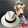 Женская соломенная шляпа с лентой