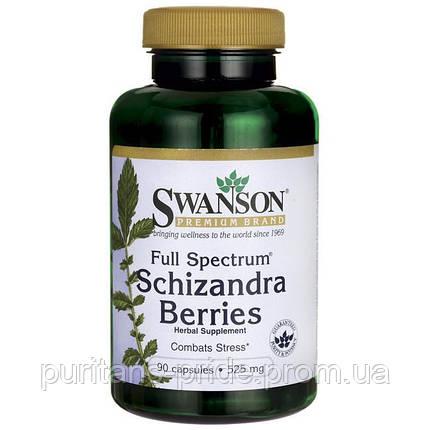 Китайський лимонник, Шизандра Swanson Full Spectrum Schizandra Berries 525MG 90 CAPS, фото 2