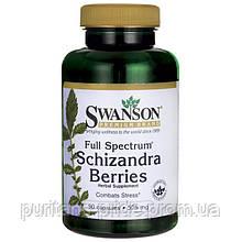 Китайский лимонник, Шизандра Swanson Full Spectrum Schizandra Berries 525MG 90 CAPS