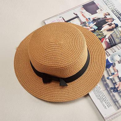 Женская пляжная шляпа с лентой