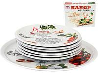 Набор для пиццы  блюдо Ø30см и 6 тарелок Ø20см Napoli Оливки