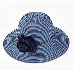 Женская пляжная шляпа с объемной розой
