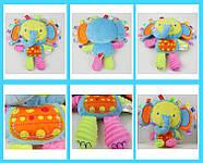 Мягкая игрушка - погремушка Слоненок, фото 2