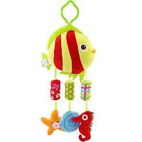 Мягкая подвеска - погремушка Рыбка Happy Monkey