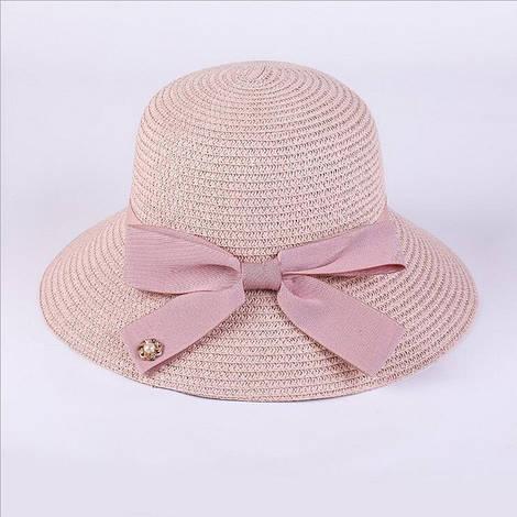 Женская пляжная шляпа с бантом