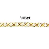 Трубка, Кринолин, Нейлон, Жёлтый, 4 мм, для Ожерелья/Браслета