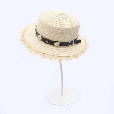 Женская пляжная шляпа с ремешком