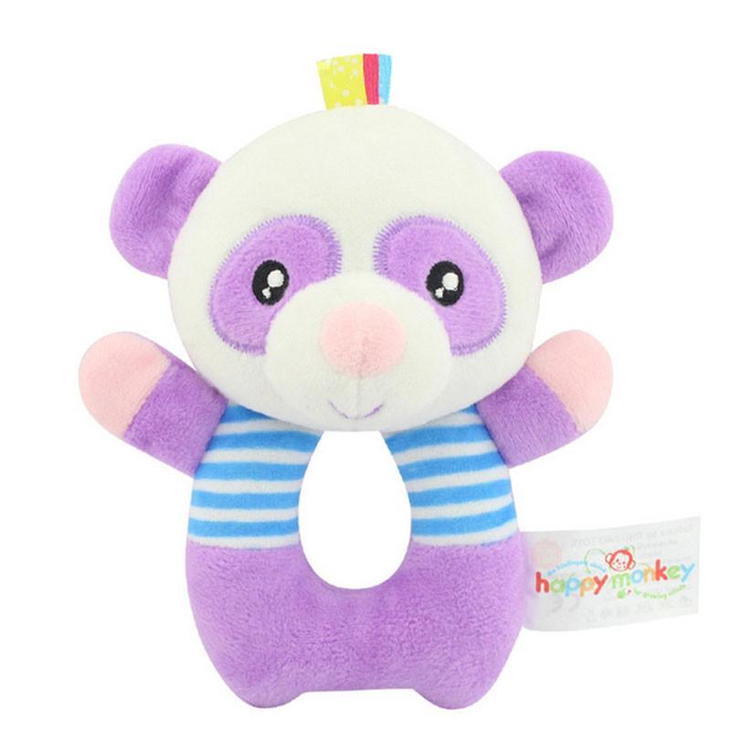 Мягкая игрушка - погремушка Панда Happy Monkey