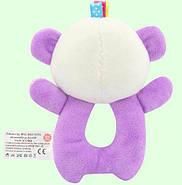 Мягкая игрушка - погремушка Панда Happy Monkey, фото 6