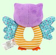 Мягкая игрушка - погремушка Сова Happy Monkey, фото 2