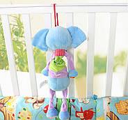 Мягкая музыкальная подвеска Слон Happy Monkey, фото 7