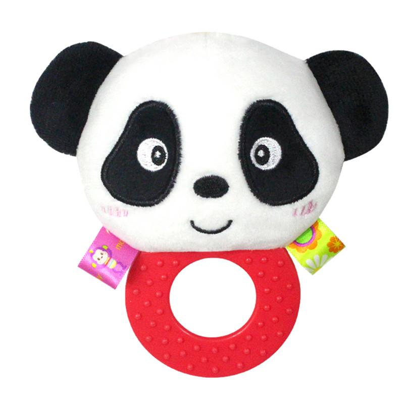 Мягкая погремушка - прорезыватель Панда Happy Monkey