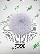 Меховой помпон Песец, Серо-голубой, 11 см, 7390