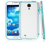 Голубой силиконовый бампер для Samsung Galaxy S4 i9500, фото 1