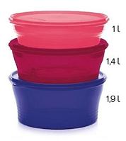 """Чаша """"Новая классика"""", большой набор (1 л / 1,4 л / 1,9 л), 3 шт., Tupperware"""
