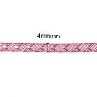 Трубка, Кринолин, Нейлон, Фуксия, 4 мм, для Ожерелья/Браслета