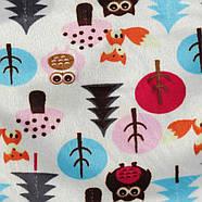 Флисовая пеленка - кокон на липучках Berni Лес Фиолетовая (43686), фото 4