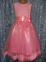Нарядное детское платье «Розовая нежность»