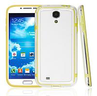 Желтый силиконовый бампер для Samsung Galaxy S4 i9500, фото 1