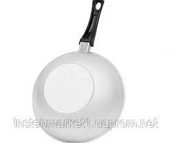 Сковорода БИОЛ А265 (діаметр 260 мм) глибока з рівним дном з кришкою, бакелітова ручка, фото 2