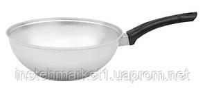 Сковорода БИОЛ А265 (діаметр 260 мм) глибока з рівним дном з кришкою, бакелітова ручка, фото 3