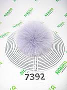 Меховой помпон Песец, Серо-голубой, 11 см, 7392