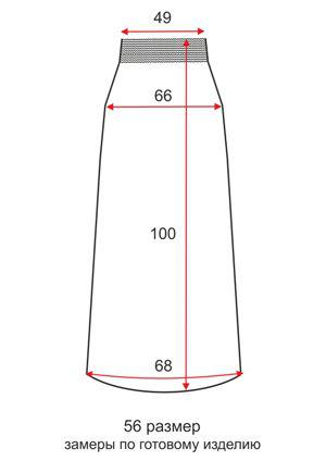 Длинная широкая юбка Узор - 56 размер - чертеж