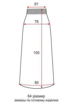 Длинная юбка для полных Париж - 64 размер - чертеж