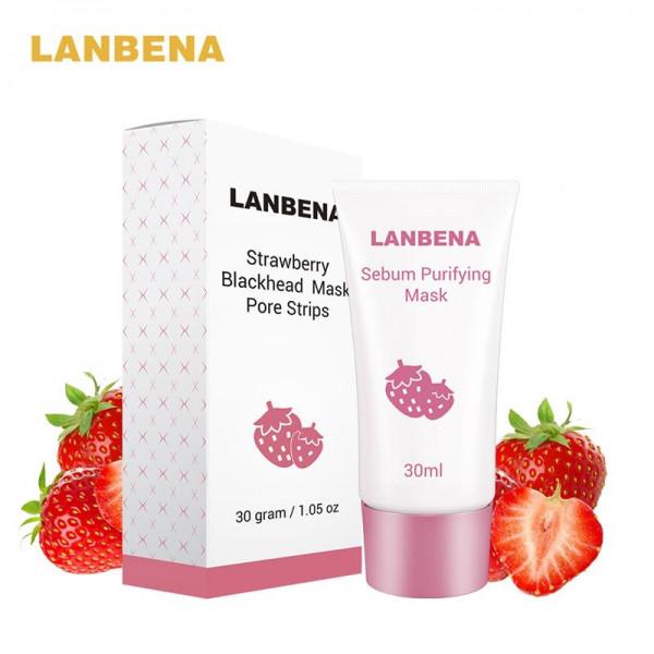 Высокоэффективное средство от угрей с экстрактом клубники LANBENA