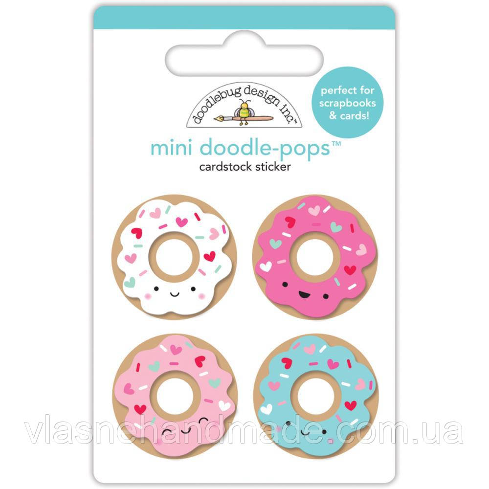 Наклейка 3D - Cream & Sugar Mini Donuts - Doodlebug