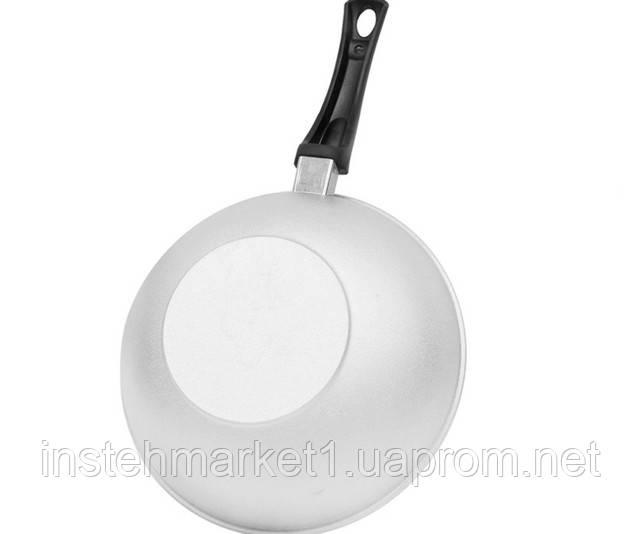 Сковорода глибока з рівним дном БІОЛ А265 (260х188 мм) з кришкою, бакелітова ручка в інтернет-магазині