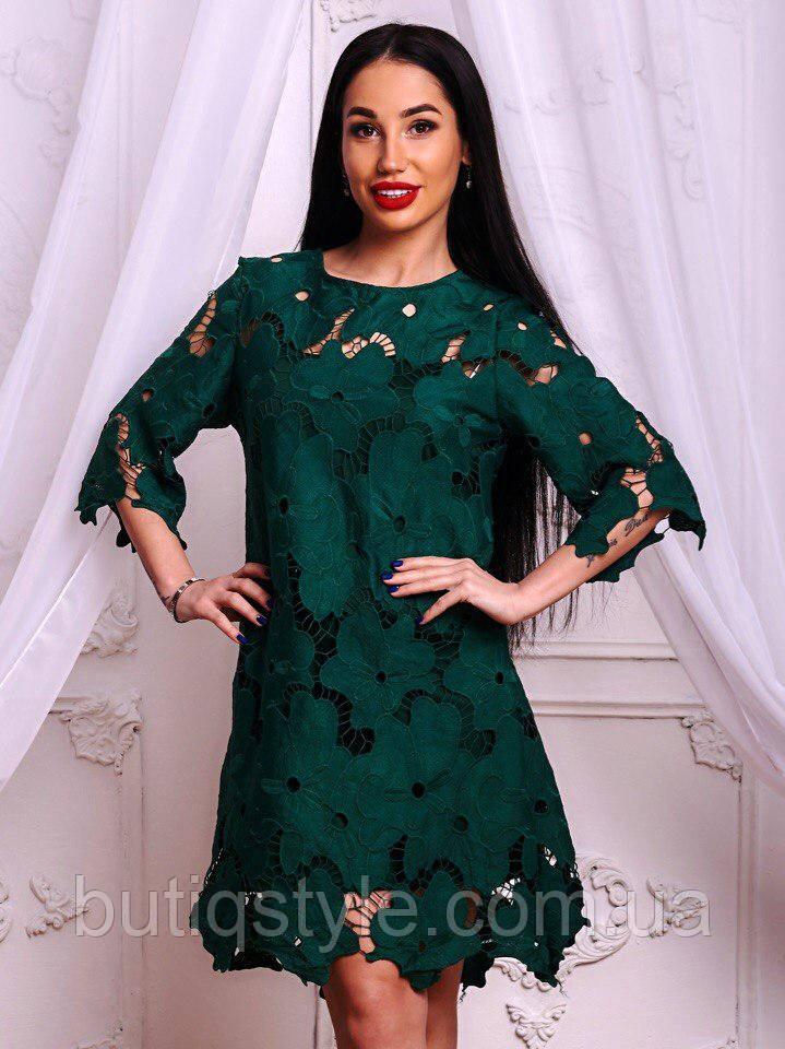 0ac29eb362b Красивое элегантное платье дорогой гипюр розовое