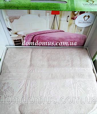 Махровая простыньTW DOLPHINS 200*220 см (бамбук) Турция 0218