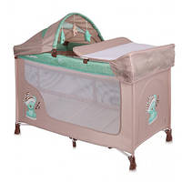 Манеж кроватка Bertoni SAN REMO 2L+ (beige&green sleeping bear)