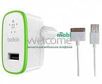 Зарядное устройство Belkin F8M670 2in1 (adap+cab) 2,1A (2USB) iPhone 4,iPad white, зарядка для смартфона, телефона