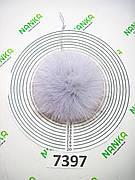 Меховой помпон Песец, Серо-голубой, 11 см, 7397