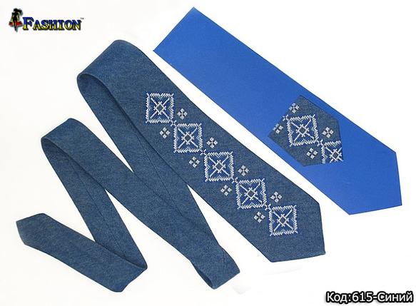Вишита синя краватка Чарльз, фото 2
