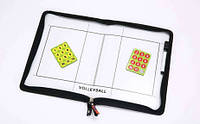Доска тактическая волейбольная C-5933 (р-р 42см x 28,5см, планшет на молнии, фишки, маркер )