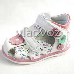 Детские босоножки сандалии для девочек белые Tom.M 25р.