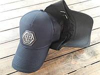 Бейсболка, кепка Филип Плейн Philipp Plein черная реплика