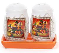"""Набор для специй соль и перец на керамической подставке """"Севилья"""""""