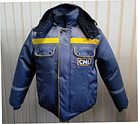 Нанесение на груди и спине зимней куртки, вышивка