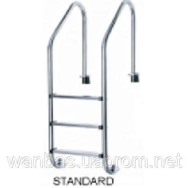 Лестница нержавеющая для бассейна Standard slim, 5 ступеней
