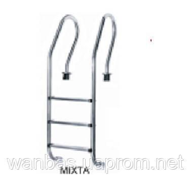 Лестница нержавеющая  для бассейна Mixta , 5 ступеней