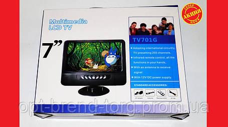 "7"" TV Портативный телевизор USB SD, фото 2"